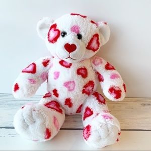 Build-A-Bear White Bear with Red/Pink Hearts